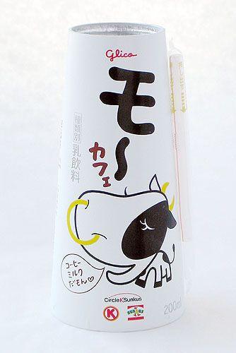 "Glico ""moo"" Coffee Milk. How cute is this cow @Melchör Mariana PD"