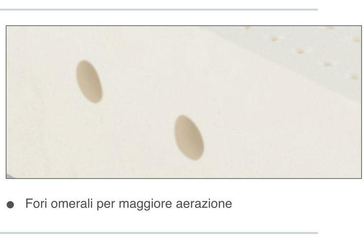 Dettaglio fori omerali per maggiore ventilazione del materasso in lattice Permaflex http://www.centropermaflex-online.com/prodotto-143153/Materasso-Magic-Permaflex-h18.aspx
