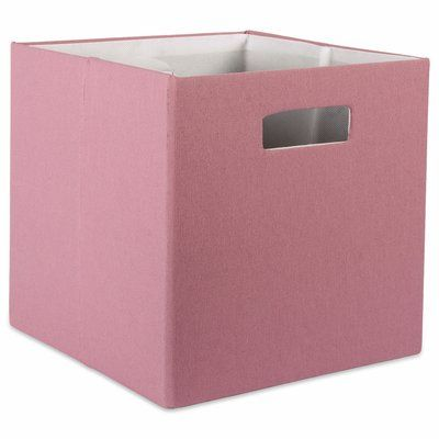 Design Imports Dii Cube Solid Fabric Polyester Bin Color Rose Size 13 H X 13 W X 13 D Collapsible Storage Bins Design Imports Fabric Storage Bins