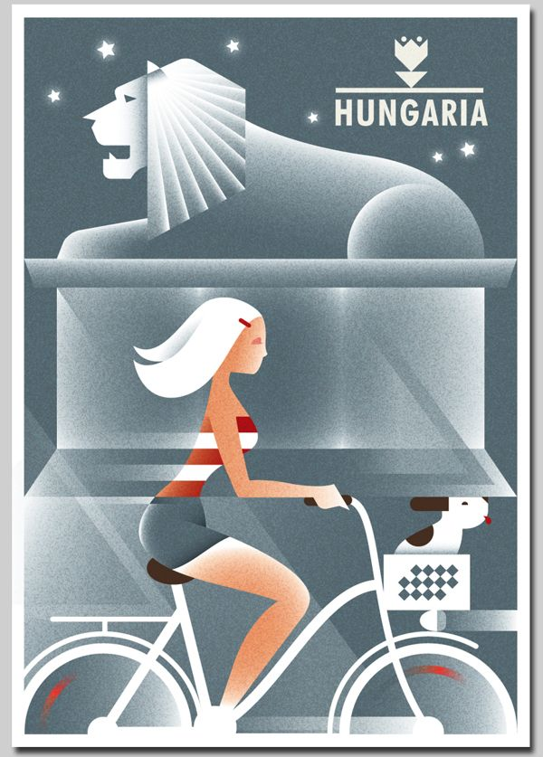 Hungaria posters by Szoki , via Behance