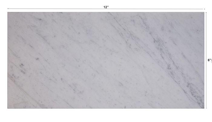 3x9 Quot Subway Tile Carrara White Marble Honed Beveled