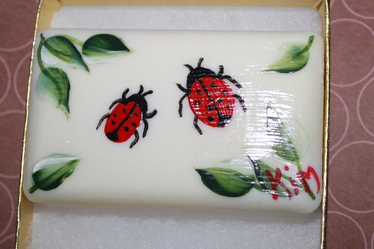 Lady Bug Soap Mariquitas