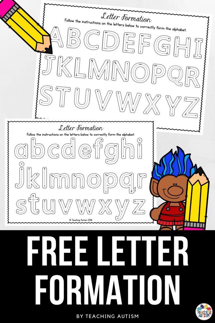 Free Letter Formation Practice Alphabet Worksheets Letter Formation Practice Letter Formation Printables Letter Formation [ 1104 x 736 Pixel ]