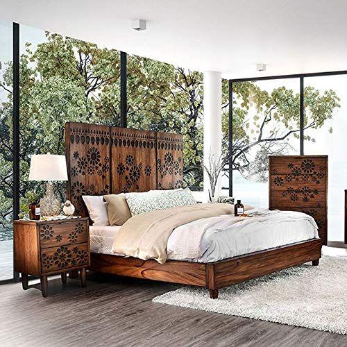Oak Finish Panel Bedroom