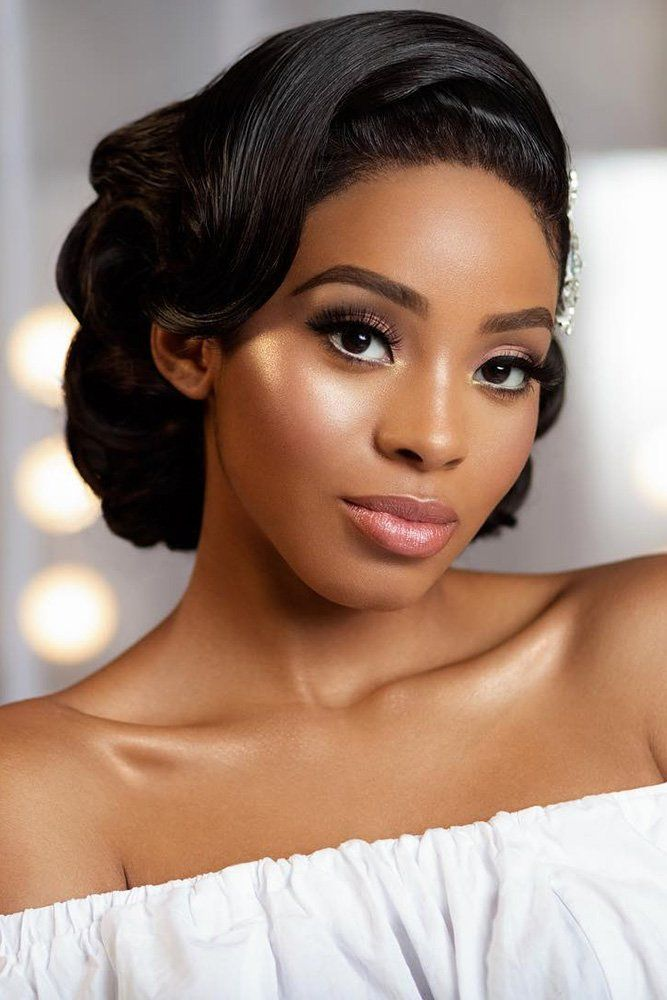 42 Black Women Wedding Hairstyles That Full Of Style Wedding Forward Vintage Hairstyles Hair Styles Hair Photography