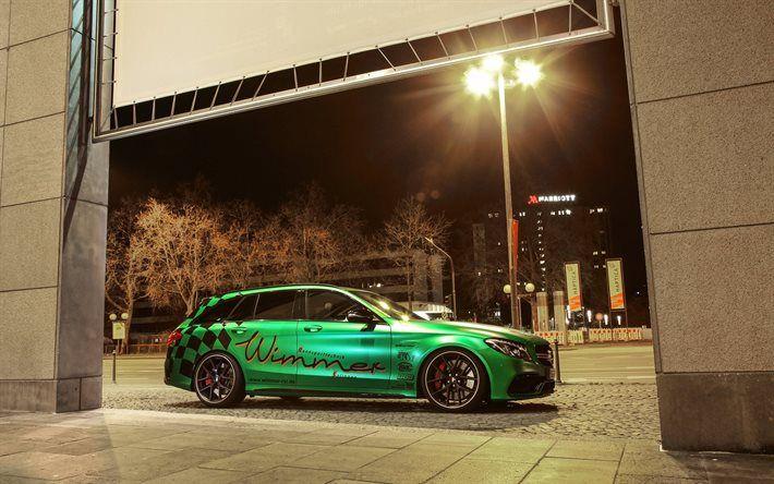 Descargar fondos de pantalla Mercedes-AMG C63 Raíces de 2017, los coches, Wimmer, tuning, carros, de la clase C, Mercedes