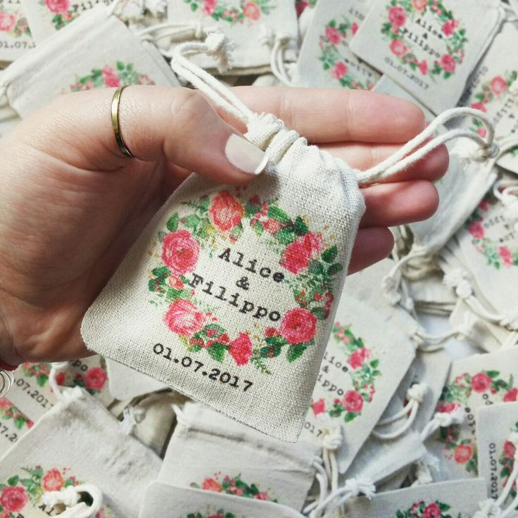 Wedding favour bags - customised wedding favor bags - wedding favours - party favours - cotton favour bags - favour sachets - jute bags - personalised cotton bags