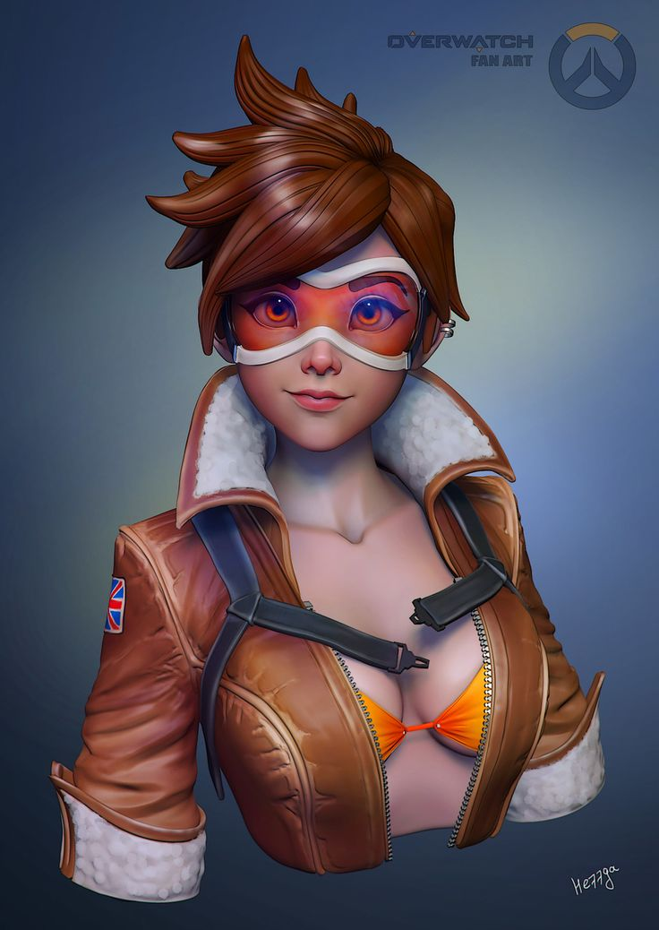 Tracer, Olya Anufrieva on ArtStation at https://www.artstation.com/artwork/85Zo6