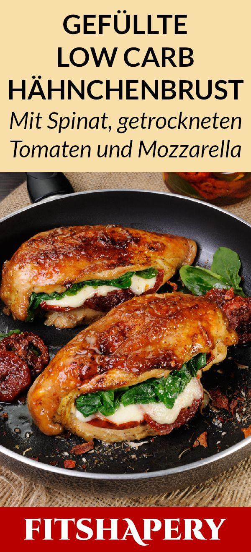 Gefüllte Low Carb Hähnchenbrust – gesundes Abendessen