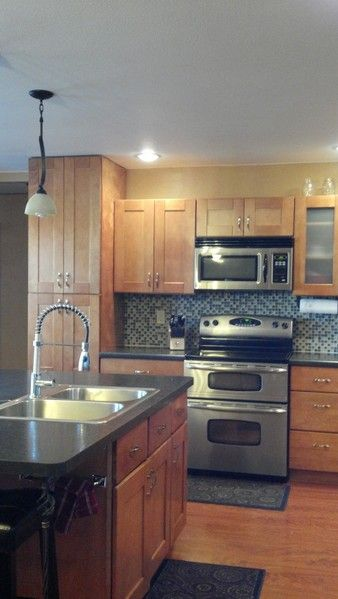 17 best images about new home on pinterest hickory for Autumn shaker kitchen cabinets