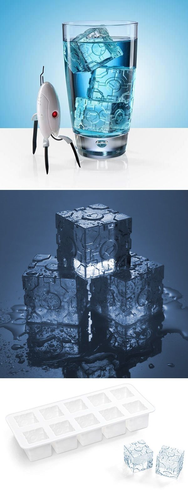 Portal 2 Companion Cube Ice Tray._ There are no words to describe how awesome this is.