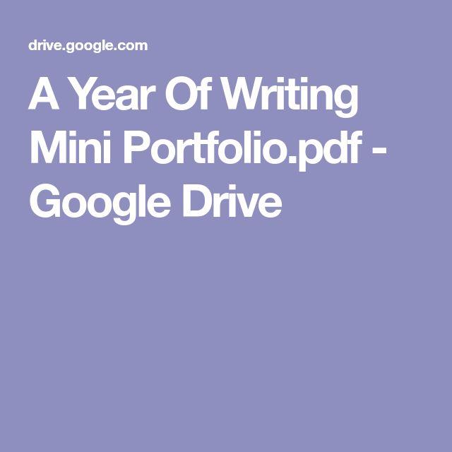 A Year Of Writing Mini Portfolio.pdf - Google Drive