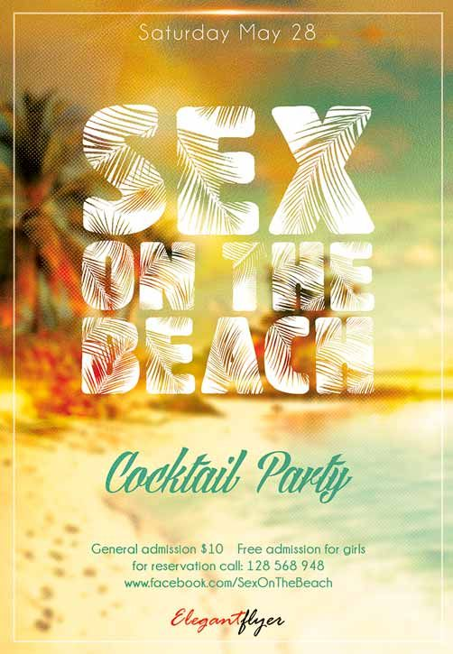 """Free Flyer PSD Template: Sex On The Beach Club Party  - http://freepsdflyer.com/free-flyer-psd-template-sex-on-the-beach-club-party/ It is a new stylish flyer. It is very simple and bright. It is for the cocktail party on the beach.  PSD is set up in 1275×1875 dimension (4,6"""" with 0,25"""" bleed). You can easily change texts, content, images, objects and color palette. The PSD file is very well organised, with color coded groups and layers named appropriately.   #Beac"""