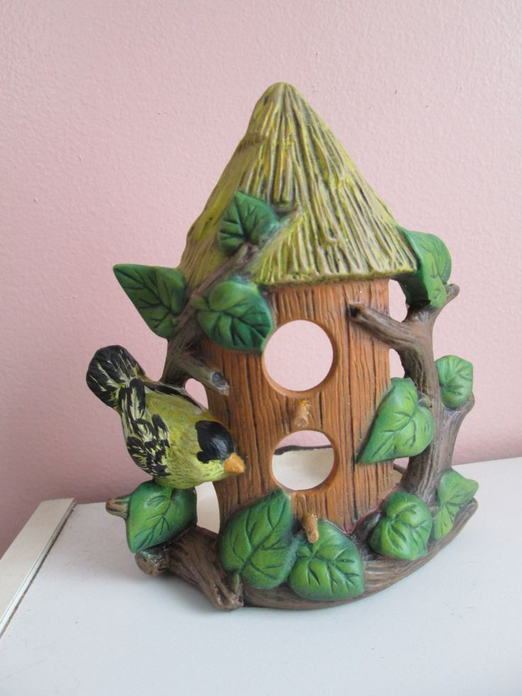 Birdhouse Candle or votive holder by NanJac on Etsy