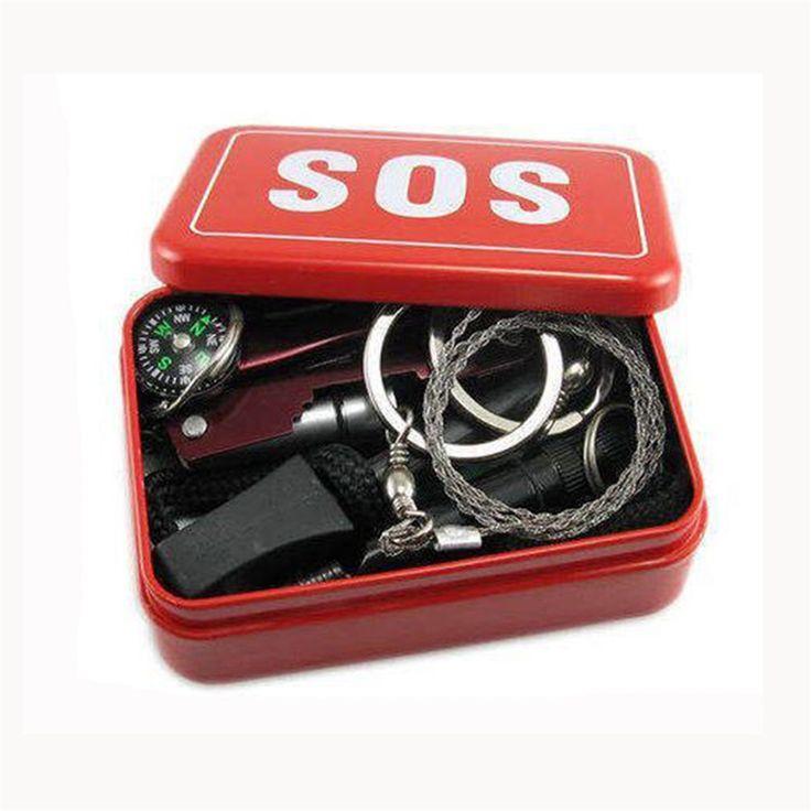 Самопомощи SOS Аварийного Выживание Комплект Оборудования Открытый Палатки Кемпинга Туризм Выживание Аварийного Нож Окно Многофункциональное Оборудование