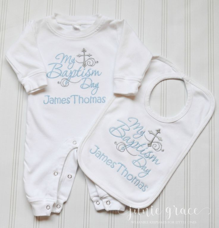 Baby Boy Baptism Outfit Baby Boy Baptism Romper Baby Boy Dedication Outfit Bay Boy Christening Outfit Bay Boy Baptism Bib by juniegrace on Etsy
