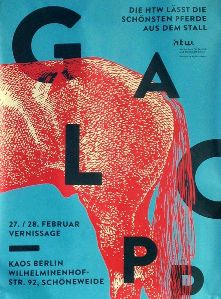 Galopp student graduation exhibition poster
