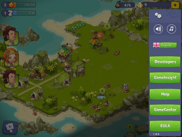 Adventure Era | Settings Menu | UI HUD User Interface Game Art GUI iOS Apps Games | www.girlvsgui.com