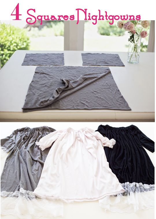 do it yourself divas: DIY: The 4 Squares Nightgown