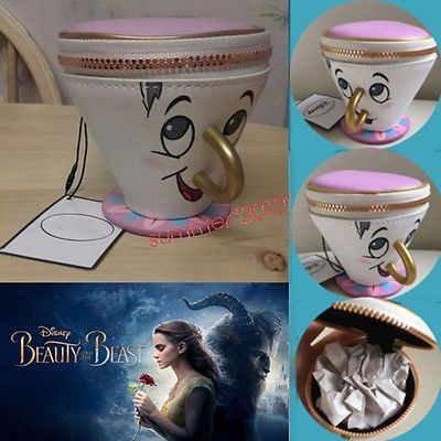 3D Cup PRIMARK Beauty And The Beast Chip Coin Purse Trinket Jewelry Bag Gifts in Clothing, Shoes & Accessories, Women's Handbags & Bags, Handbags & Purses | eBay