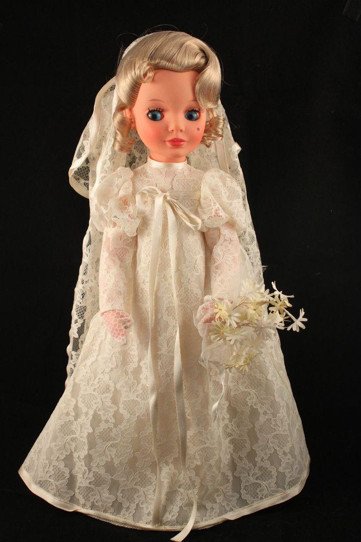 "MINT Rare 17"" Vintage 1960 Mod Italian Alta Moda Furga SIMONA BRIDE Fashion Doll"