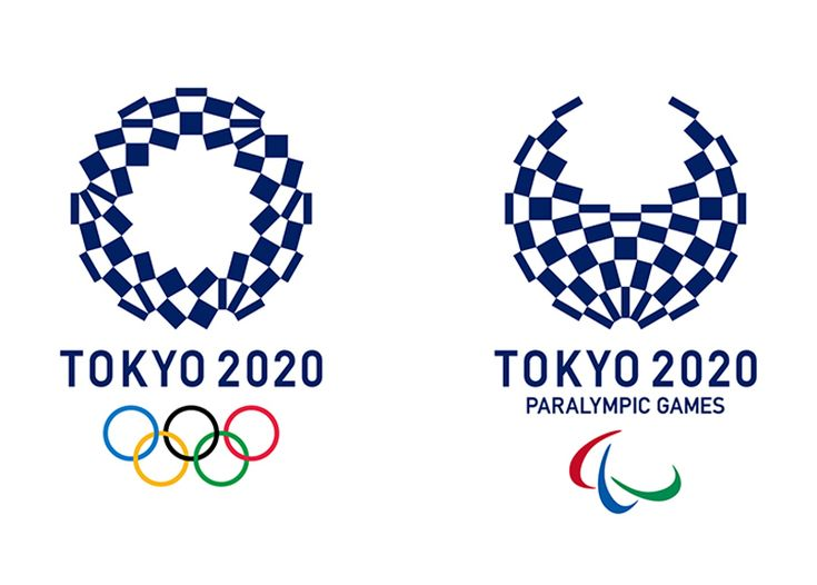 The final logo designs for the Tokyo 2020 Olympics and Paralympic Games by Japanese artist Asao Tokolo
