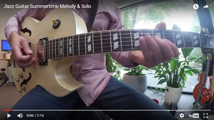 Learn how to play the melody and improvise over Summertime, a classic jazz standard that every jazz guitarist needs to know...