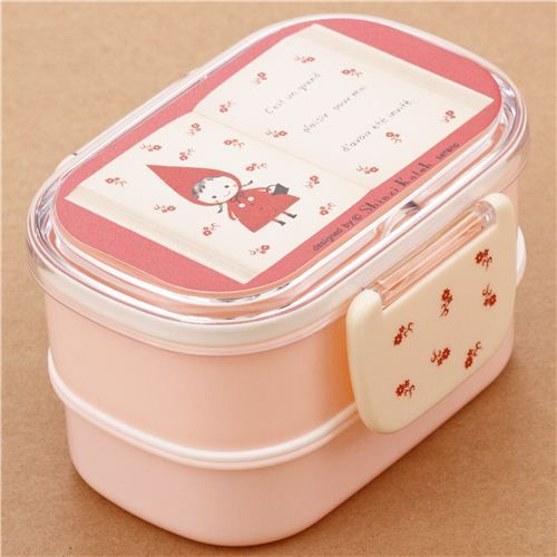 pink little red riding hood book of fairy tales bento box lunch box from japan bento lunch. Black Bedroom Furniture Sets. Home Design Ideas