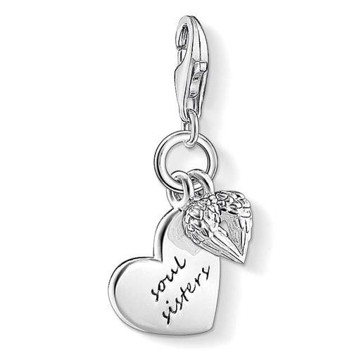 Thomas Sabo Women-Charm Pendant Heart Charm Club 925 Sterling silver 18k rose gold plating 0926-415-12