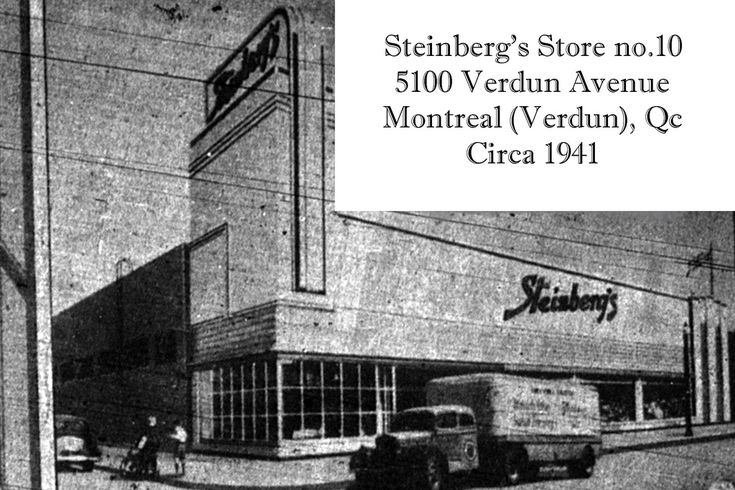 """Few Steinberg's stores were opened during the Second World War. This one opened on Verdun Ave corner 6th Avenue, replacing a smaller size store across the street. The store opened in May 1941. This was one of the first stores with automated doors and a """"Steinberg's terrazzo"""". It was at the time a state-of-the-art supermarket. I did go to this store many times as my uncle worked there. The store front had a facelift, going from white to brown brick. My uncle's memories ..."""