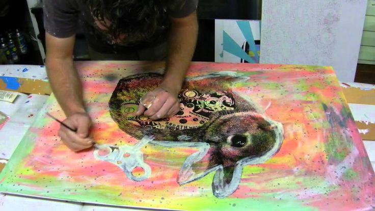 Painting a Wind Up Bunny