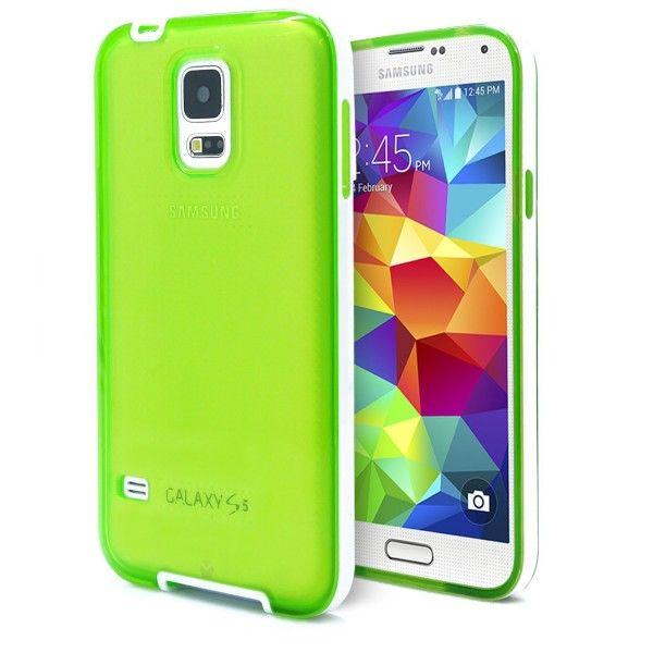 Capa Celular Samsung Galaxy S5 Mini Translucida-verde