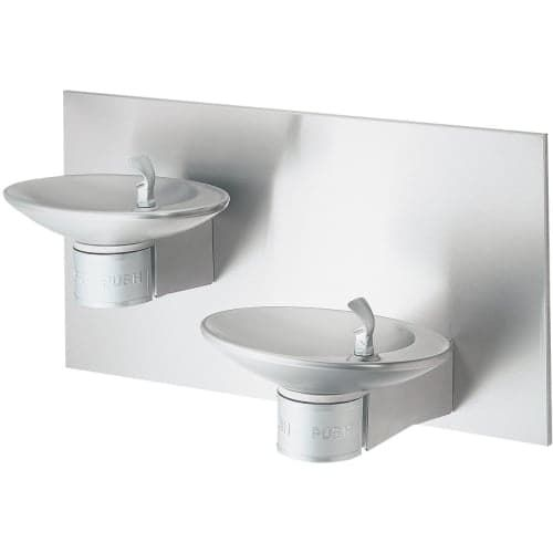 Halsey Taylor Ovliiesbp OVL-II Wall Mounted Bi-Level Indoor Water Fountains - Barrier free with Double Bubbler™, Silver stainless steel