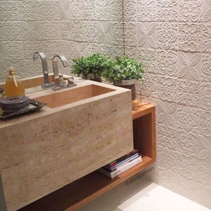 Cuba esculpida em lavabo pequenos
