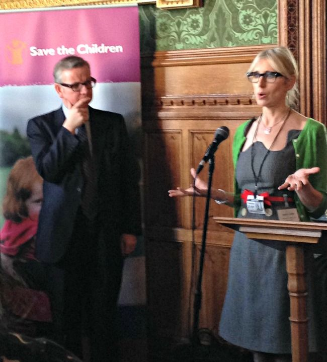 Lauren Child, Author of Charlie and Lola, and Michael Gove spoke compellingly about the need to Change the Story for the UK's poorest childr...