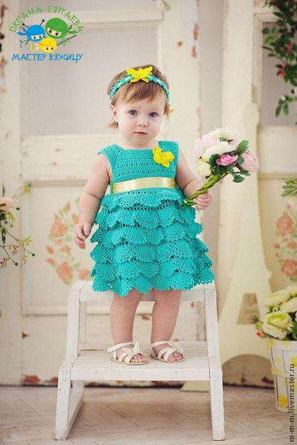 """Одежда для девочек, ручной работы. Ярмарка Мастеров - ручная работа Платье """"Мятная Принцесса"""", ручная работа. Handmade."""