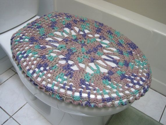 Crochet Toilet Seat Cover Toilet Seat Cozy Shadow Ombre by ytang