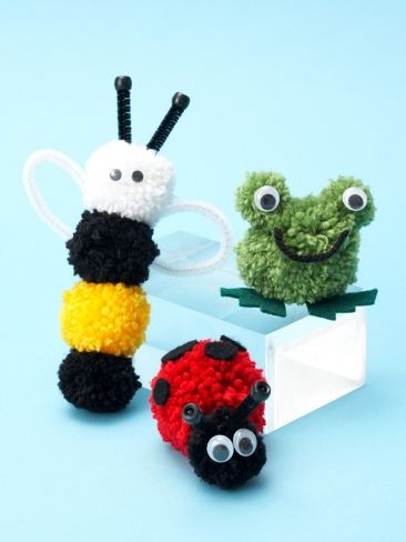 Pompom Critters | Yarn | Free Knitting Patterns | Crochet Patterns | Yarnspirations