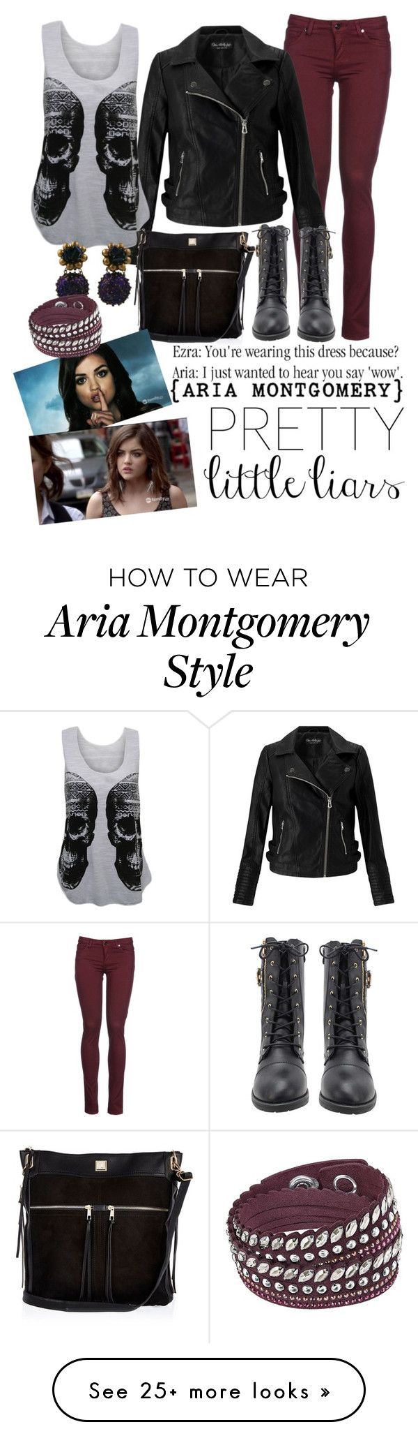 """""""ARIA MONTGOMERY - PLL SERIES"""" by ecarri on Polyvore featuring 8, Miss Selfridge, WearAll, River Island and Swarovski"""