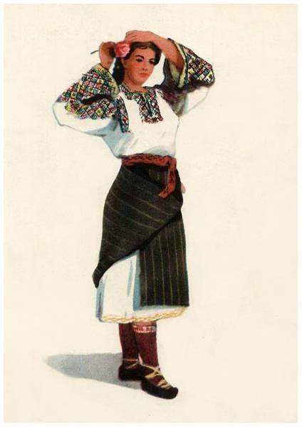 Выкройка народных украинских костюмов
