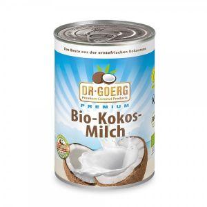 Lapte de cocos DR. GOERG. Poate fi consumat ca atare sau adaugat in bauturi, supe sau prajituri. Comanda online o gama variata de alimente bio, miere de Manuka si cosmetice bio.