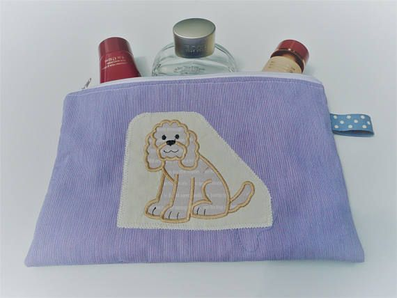 Hey, I found this really awesome Etsy listing at https://www.etsy.com/uk/listing/531787350/cockapoo-zipper-pouch-project-bag-makeup