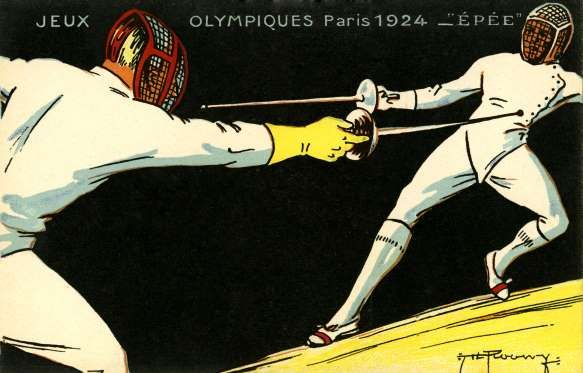 Olympics   1924 Paris France   At the Paris Olympics in 1924, there is a puzzling result of fencing. The calculation is different from Italian judges and the Jury Hungary.