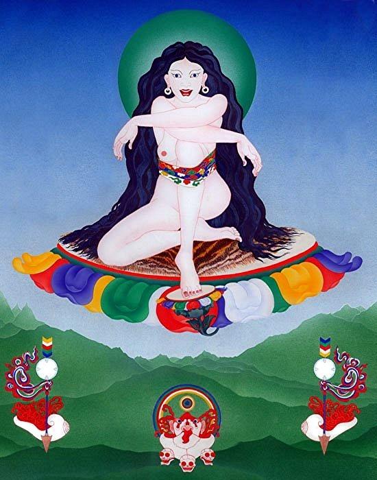 siting dakini #buddha