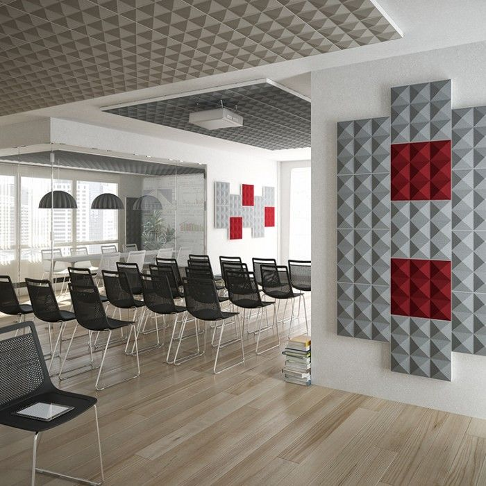Acoustic Sound Absorbing Panels Pyramid Accusta Sound