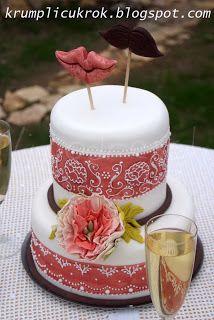 mustache-mouth wedding cake by Lipovszky-Drescher Mária