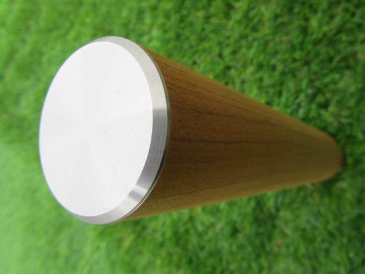 Trapleuning met hout design Kersen met RVS afwerking