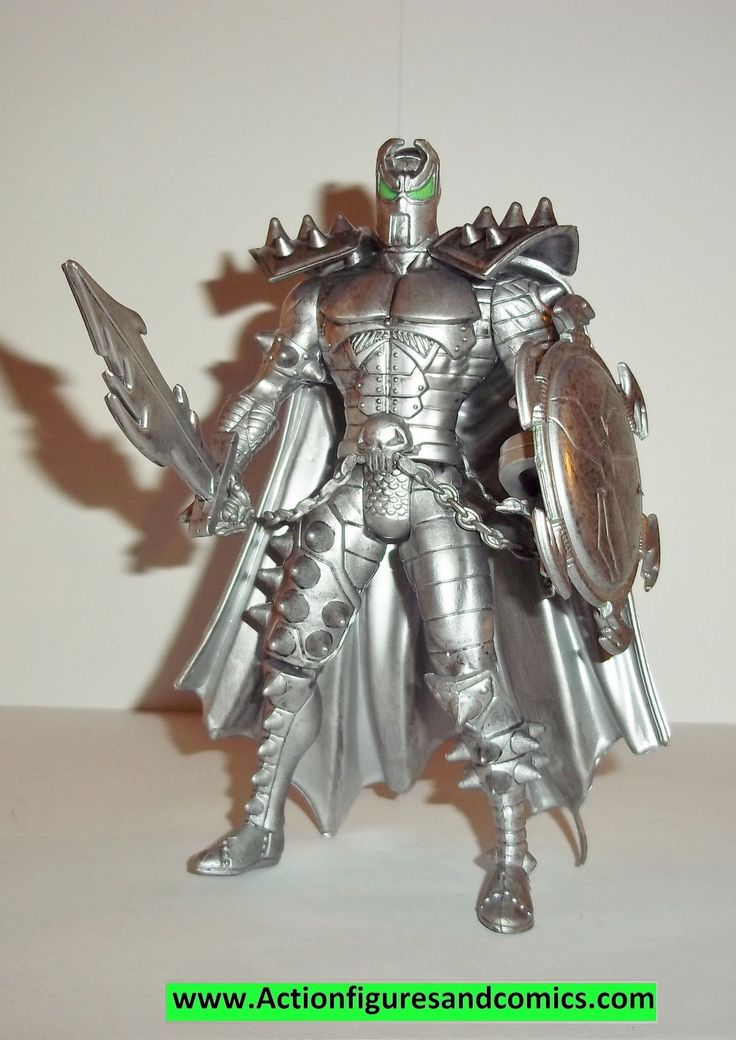 Spawn MEDIEVAL SPAWN 1995 silver pewter kaybee toys complete todd mcfarlane toys action figures