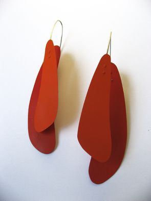 Accessories - CALDER by Maria Brossa, via Behance Earrings, silver and car pinture.