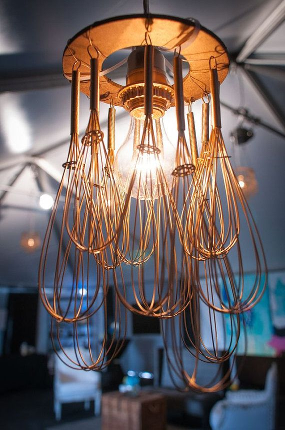 Whisk Chandelier, Small For over kitchen island! Way cheaper than doing bigger…